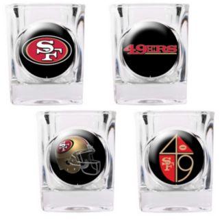 San Francisco 49ers 4-pc. Square Shot Glass Set