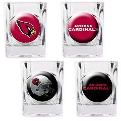 Arizona Cardinals 4 pc Square Shot Glass Set