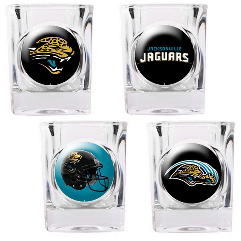 Jacksonville Jaguars 4-pc. Square Shot Glass Set