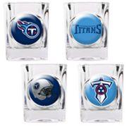 Tennessee Titans 4 pc Square Shot Glass Set