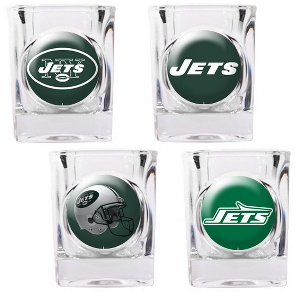 New York Jets 4-pc. Square Shot Glass Set
