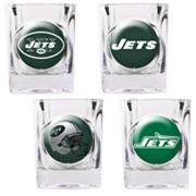 New York Jets 4 pc Square Shot Glass Set
