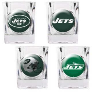 New York Jets 4-pc. Square Shot Glass Set