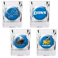 Detroit Lions 4-pc. Square Shot Glass Set
