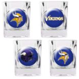 Minnesota Vikings 4-pc. Square Shot Glass Set