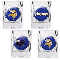 Minnesota Vikings 4-pc. Square Shot Glass Set