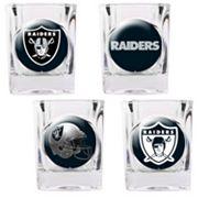 Oakland Raiders 4 pc Square Shot Glass Set