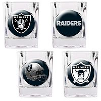 Oakland Raiders 4-pc. Square Shot Glass Set