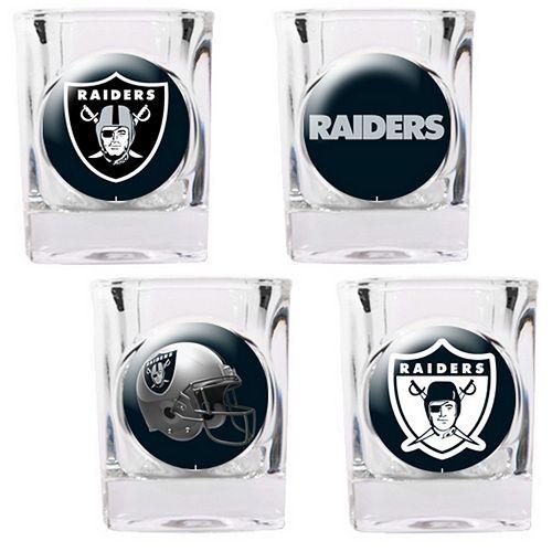 Oakland Raiders 4-pc. Square Shot Glass Set