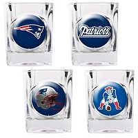 New England Patriots 4-pc. Square Shot Glass Set