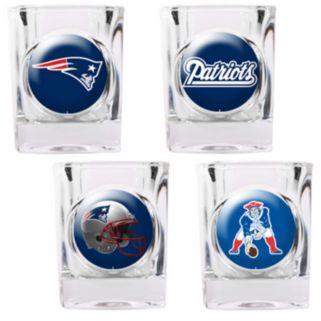 New England Patriots 4-pc. Square Shot Glass Set
