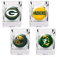 Green Bay Packers 4 pc Square Shot Glass Set