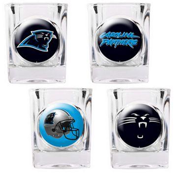 Carolina Panthers 4-pc. Square Shot Glass Set