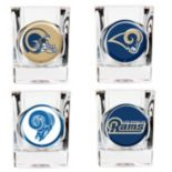 Los Angeles Rams 4-pc. Square Shot Glass Set
