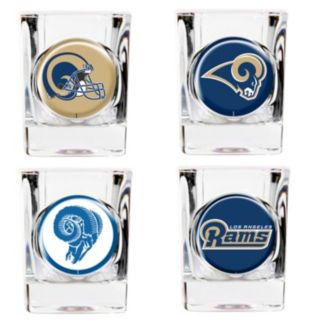 Los Angeles Rams 4-pc. Square Shot Glass Set