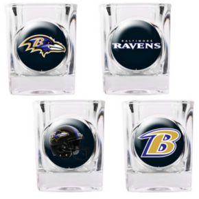Baltimore Ravens 4-pc. Square Shot Glass Set