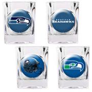 Seattle Seahawks 4 pc Square Shot Glass Set