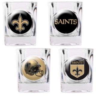 New Orleans Saints 4-pc. Square Shot Glass Set
