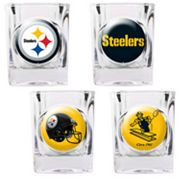 Pittsburgh Steelers 4 pc Square Shot Glass Set