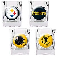 Pittsburgh Steelers 4-pc. Square Shot Glass Set