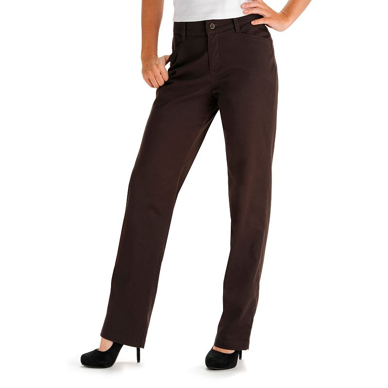 Lee Relaxed Twill Pants - Women's Size 14 SHORT (Brown)