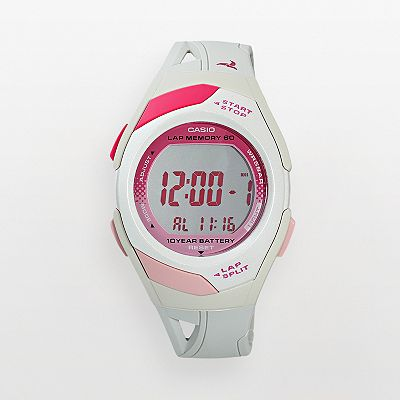 Casio Runner Series 60-Lap Resin Digital Chronograph Watch - Women
