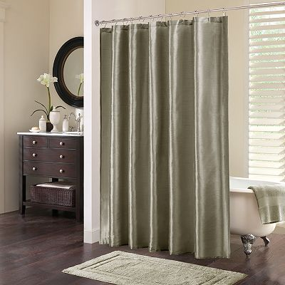 Madison Park Eastridge Fabric Shower Curtain