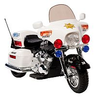 National Products Police Motorcycle Ride-On - White