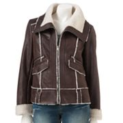 Sherpa Faux-Suede Jacket - Juniors