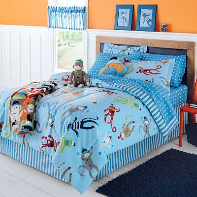 Jumping Beans Monkey Bed Set - Twin