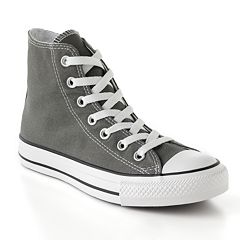 93bdd41ff27a Adult Converse All Star Chuck Taylor High-Top Sneakers. Black Black White  Charcoal Red ...