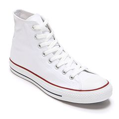 178562d13b10 Adult Converse All Star Chuck Taylor High-Top Sneakers. Black Black White  Charcoal Red ...
