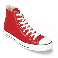 c721b1679530 Adult Converse All Star Chuck Taylor High-Top Sneakers. Black Black White  Charcoal Red ...
