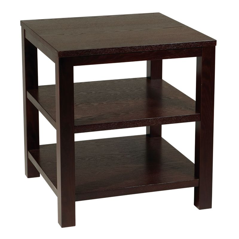 Ave Six Merge End Table, Brown