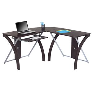 OSP Home Furnishings L-Shaped Computer Desk