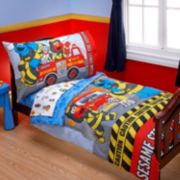 Sesame Street Fire Department 4-pc. Bed Set by NoJo