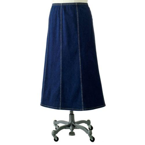 and barrow gored denim skirt s plus