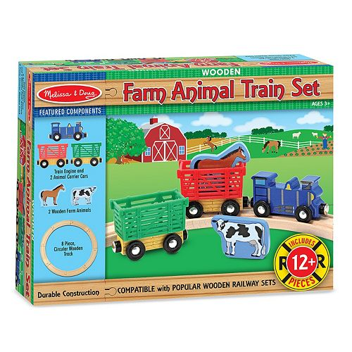 Animal Train Set : Melissa and doug farm animal train set