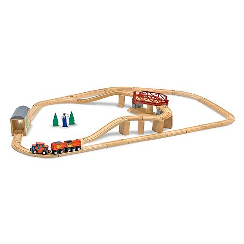 Melissa & Doug Swivel Bridge Train Set