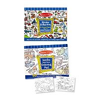 Melissa & Doug Multi-Theme Coloring & Sticker Pad Bundle