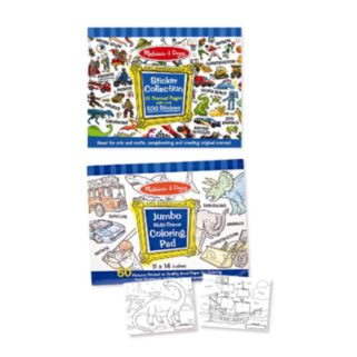 Melissa and Doug Multi-Theme Coloring & Sticker Pad Bundle