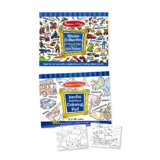 Melissa and Doug Multi-Theme Coloring & Sticker Pad Bundle