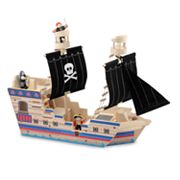 Melissa and Doug Deluxe Pirate Ship Playset