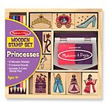 Melissa & Doug Wooden Princess Stamp Set