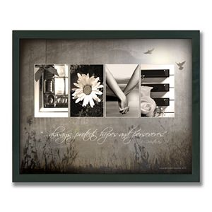 Love Letters Framed Canvas Art by Scott Kennedy