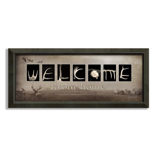 Welcome Wildnerness Framed Can...