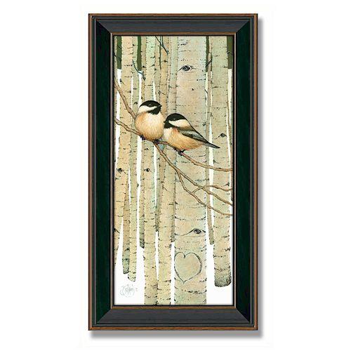 """Love Birds"" Framed Canvas Art by Scott Kennedy"