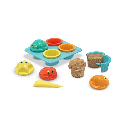 Melissa & Doug Seaside Sidekicks Cupcake Sand-Molding Set