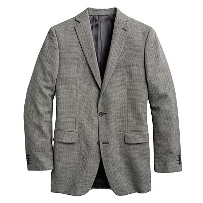 Marc Anthony Slim-Fit Checked Wool Blazer
