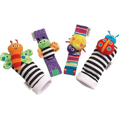 Lamaze Garden Bug Foot Finder and Wrist Rattle Set